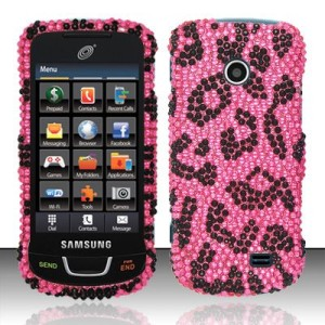 Crystal BLING Hard Case Phone Cover Straight Talk Samsung T528g