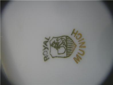ROYAL MUNICH Hand Painted STRAWBERRY & CHERRIES PLATE