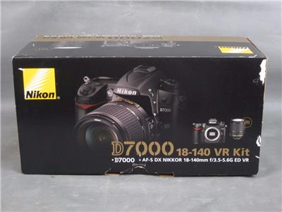 New In Box Nikon D7000 DSLR Camera & AF-S DX Nikkor 18-140mm ED VR Kit Bundle