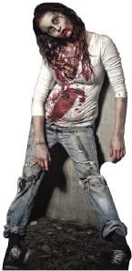 ZOMBIE GIRL WALKING DEAD LIFESIZE CARDBOARD STANDUP STANDEE CUTOUT