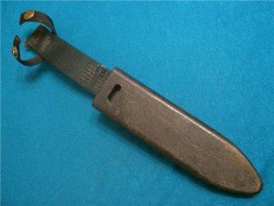 Vintage sheath 4 us mk3 mod0 usn navy seals scuba divers survival bowie knife vg ebay - Navy seal dive knife ...