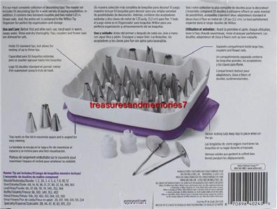 WILTON Cake Decorating MASTER TIP Set 55 Tips, 2 Couplers ...