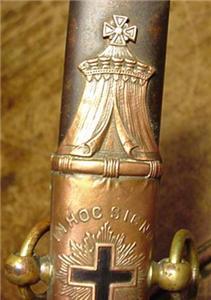1800s Masonic Knights Templar Sword Scabbard M C Lilley Co