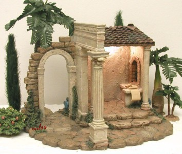 fontanini italy 5 retired 1999 census building nativity. Black Bedroom Furniture Sets. Home Design Ideas