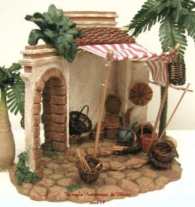fontanini italy 5 retired 1999 basket shop nativity. Black Bedroom Furniture Sets. Home Design Ideas