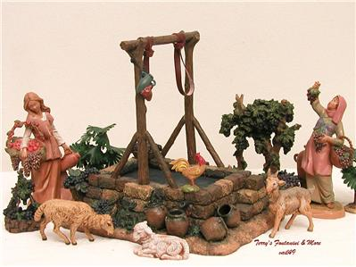 fontanini italy 5 retired winepress wine press nativity. Black Bedroom Furniture Sets. Home Design Ideas