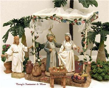 fontanini italy 5 wedding canopy w table 2pc nativity. Black Bedroom Furniture Sets. Home Design Ideas