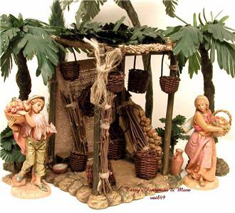 fontanini italy 5 retired basket shop nativity village. Black Bedroom Furniture Sets. Home Design Ideas