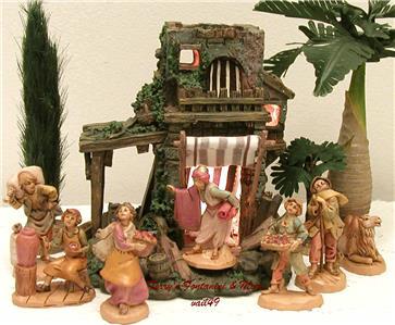 fontanini italy 2 5 retired carpenter 39 s shop nativity. Black Bedroom Furniture Sets. Home Design Ideas
