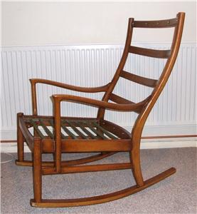 Vintage Parker Knoll Rocking Chair Quality Bargain Ebay