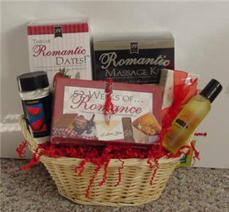 Romantic Wedding Anniversary Gift Basket for him her orcouple
