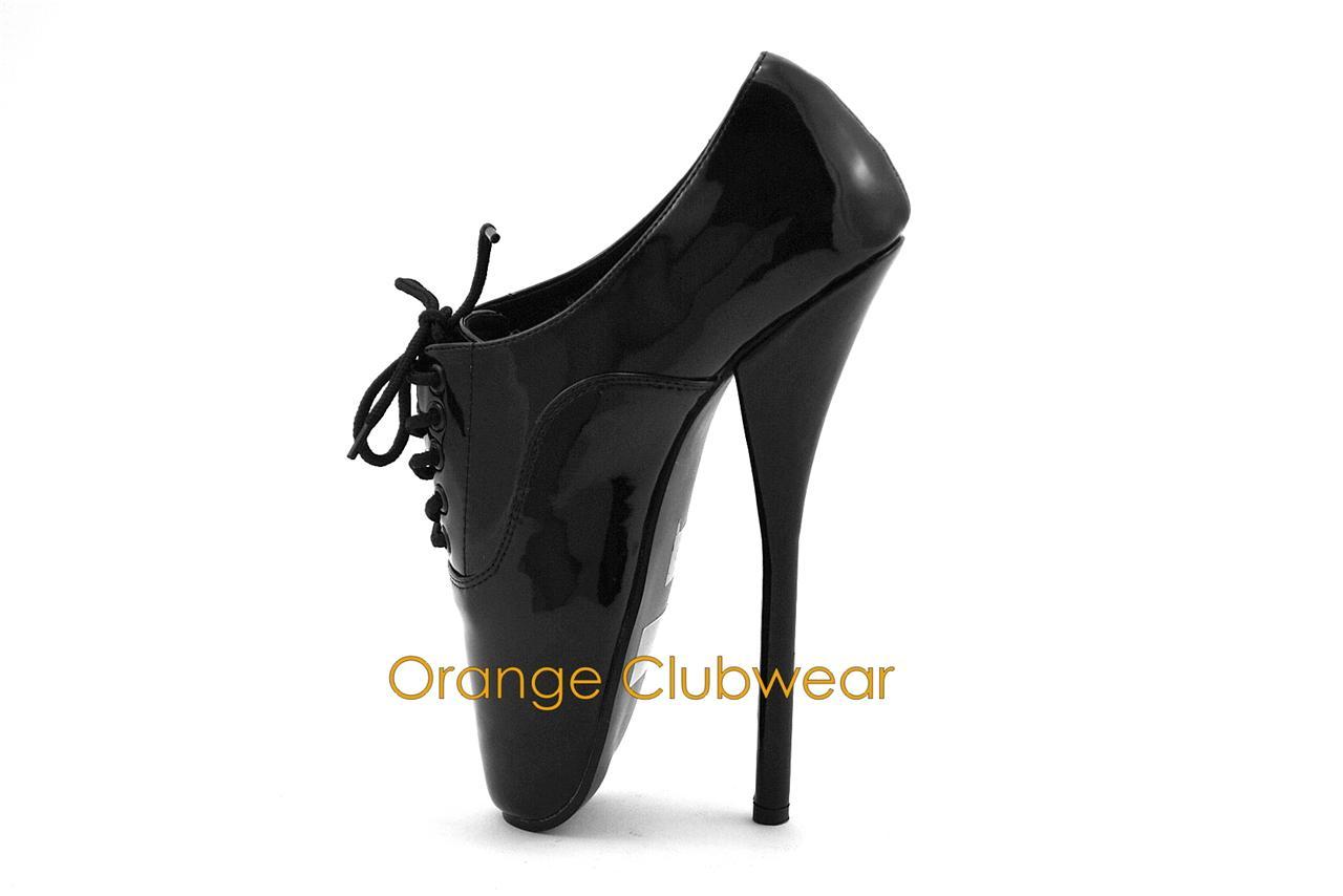 pleaser 7 high heel ballet womens black shoes ebay
