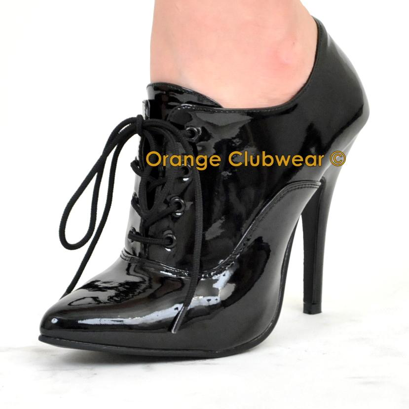 pleaser 460 5 quot high heels s lace up