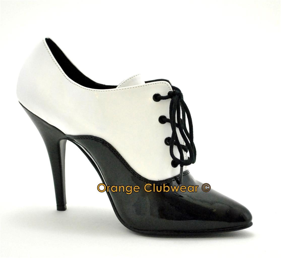 pleaser 5 quot high heel s oxford pumps shoes ebay