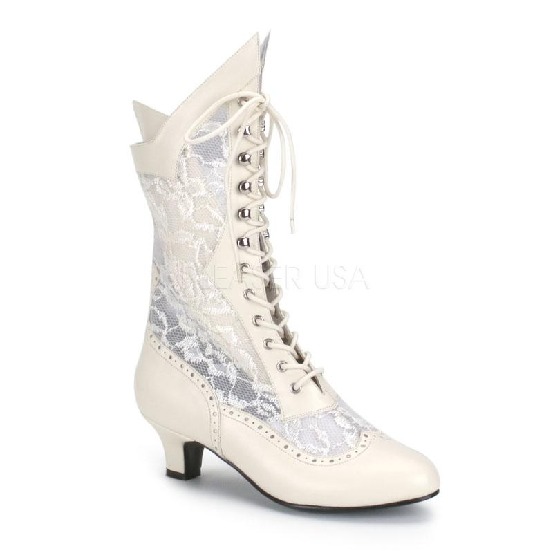Old Fashioned Vintage Style Lace Granny Wedding Boots Ebay
