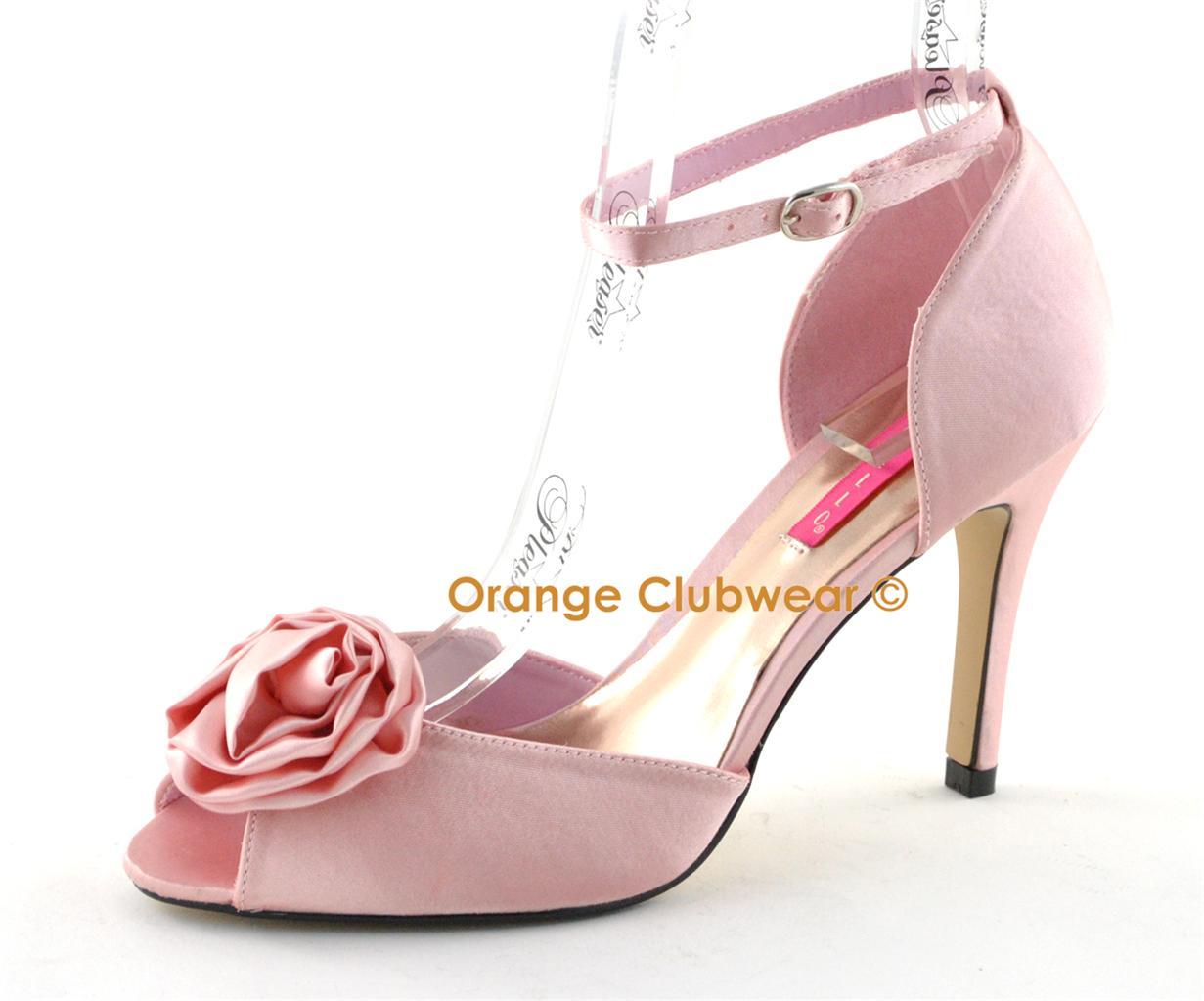 bordello rosa 02 pink satin women 39 s high heels shoes ebay. Black Bedroom Furniture Sets. Home Design Ideas