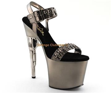 pleaser bondgirl 712 gun high heel shoes ebay