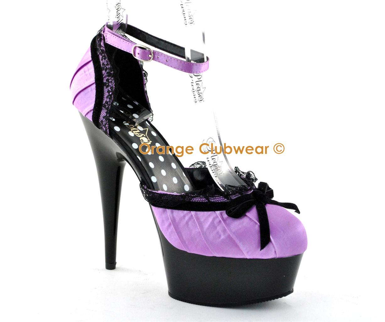shoes platform Purple stripper
