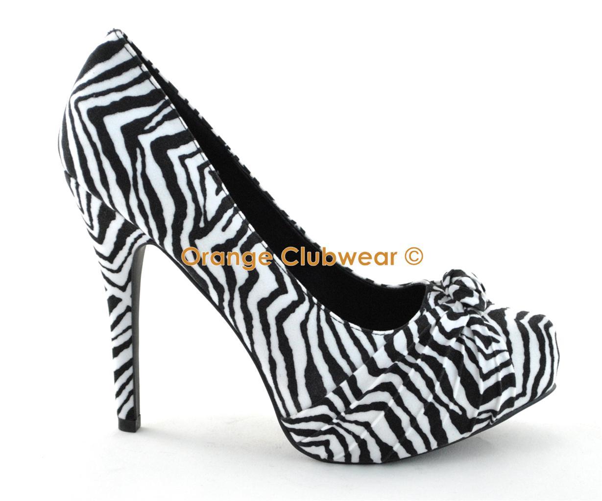 pinup womens velvet zebra print pleated knot front
