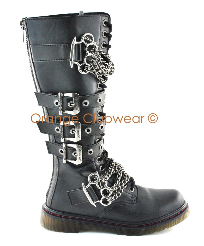 Popular GC Shoes Women39s Punk Rock Combat Boots  Groupon