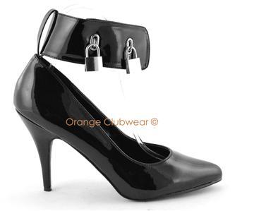 pleaser 4 quot womens locking high heels pumps shoes ebay