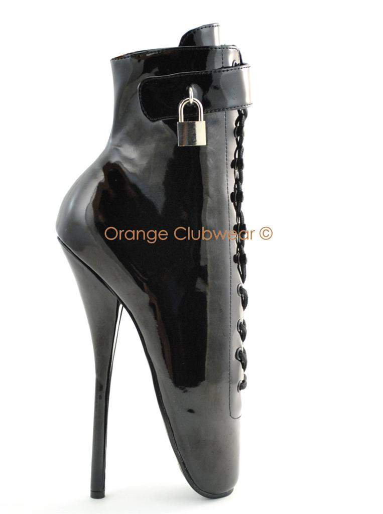 PLEASER-Sexy-7-High-Heels-BALLET-Locking-Ankle-Boots