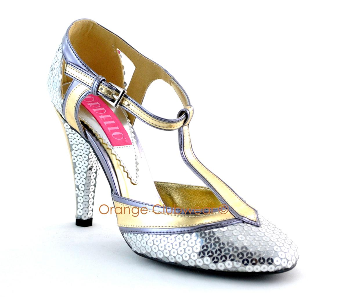 bordello sequin cabaret retro flapper high heels shoes ebay