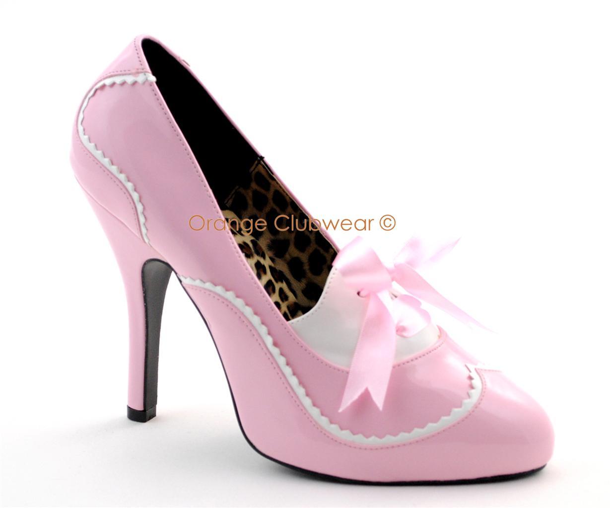 bordello womens baby pink retro style high heels pumps ebay