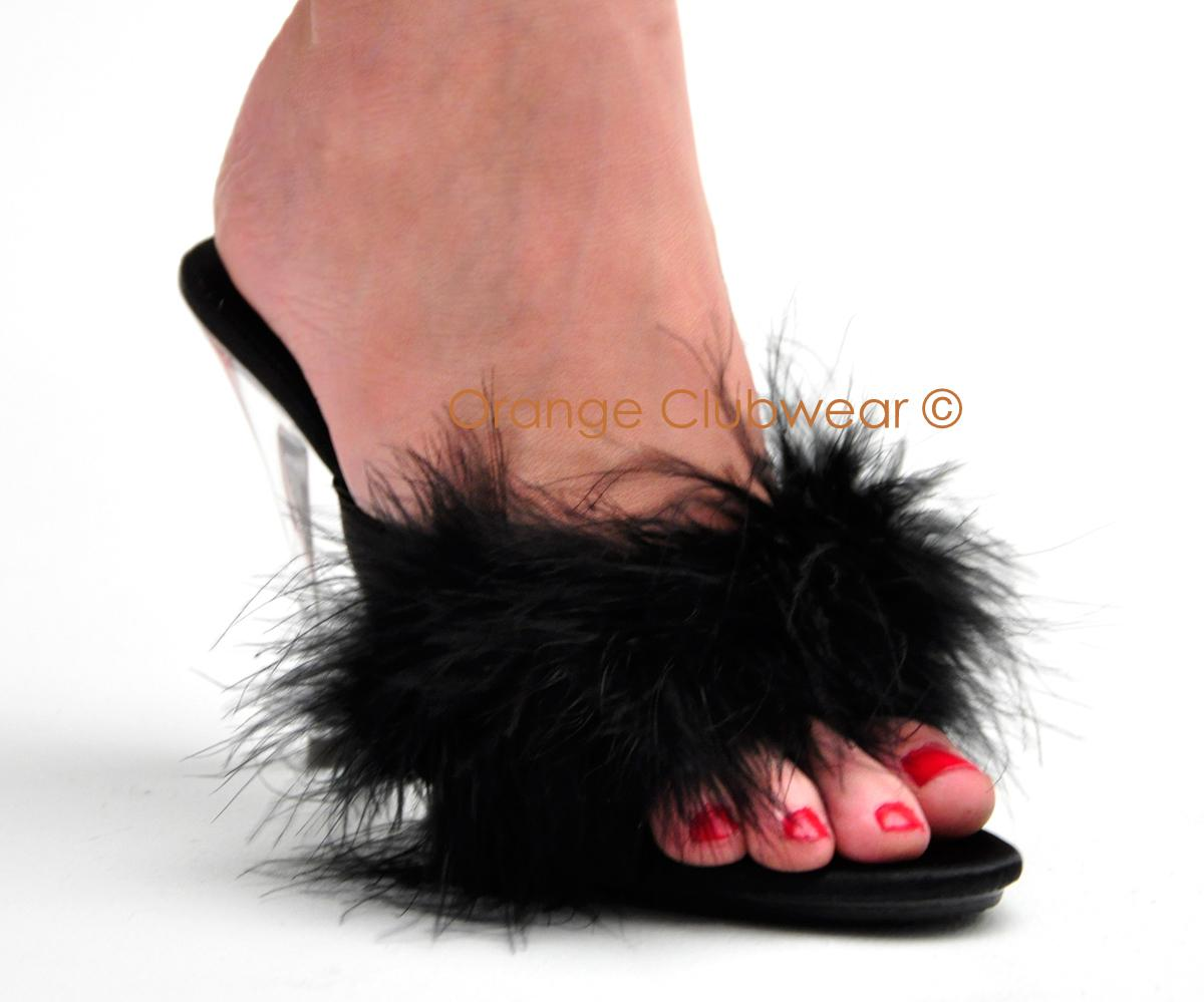 Feather Slippers 28 Images Pleaser Bel301f R Sat Bedroom Marabou Feather Pleaser Womens