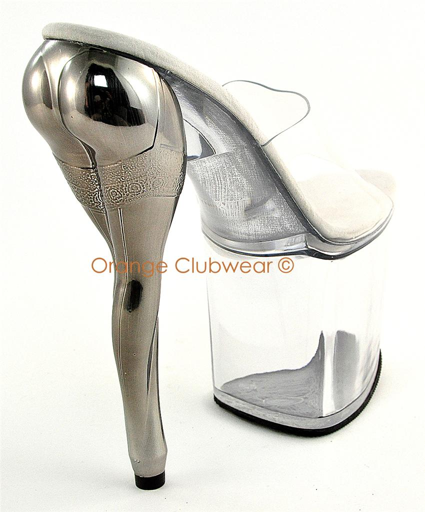 Details about PLEASER Womens Sexy Leg-Shaped High Heel Stripper Shoes
