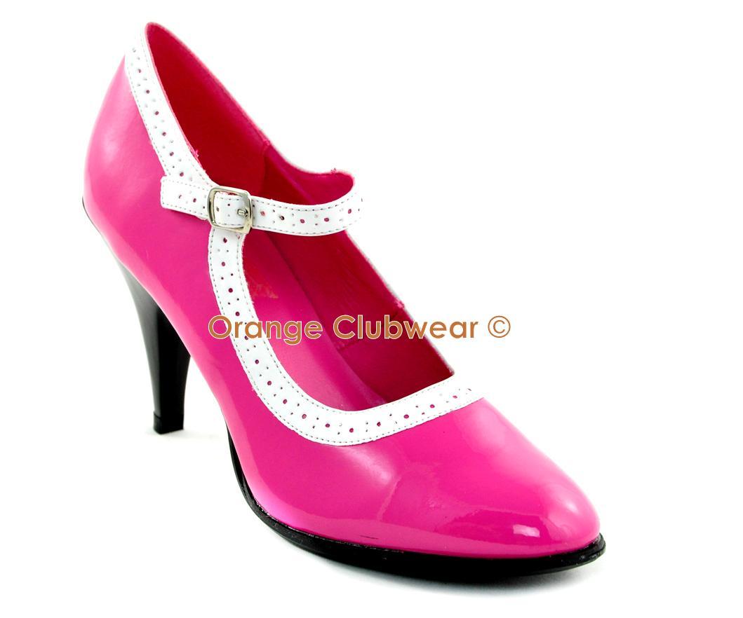 Hot Pink Mary Jane Heels