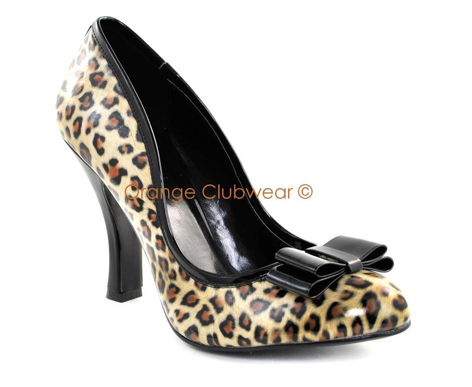 pinup womens high heels leopard cheetah print