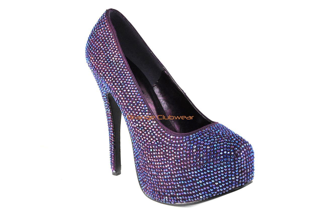 High heels shoes platform purple - photo#6