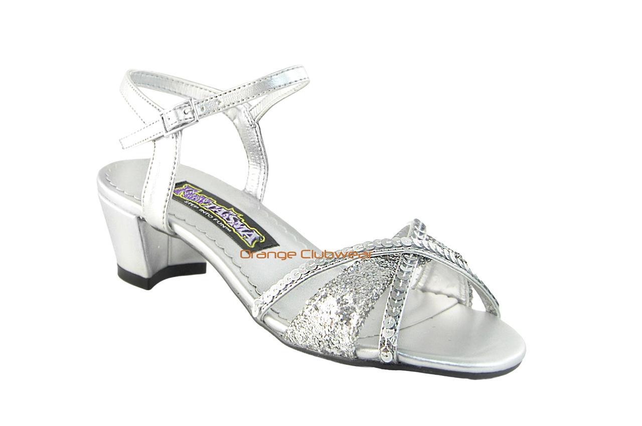 PLEASER-Childrens-Girls-Fairy-Princess-Glitter-Halloween-Costume-Sandals-LARGE