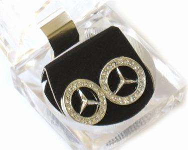 Mercedes benz emblem earrings luxury car owner look for Mercedes benz earrings