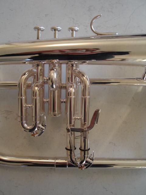 Brand-New-I-K-FLUGEL-HORN-with-3rd-Valve-Trigger