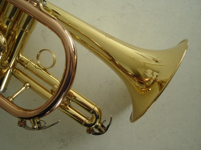 Brand-New-High-Quality-I-K-CORNET-Brass-with-Gold-Brass-Leadpipe