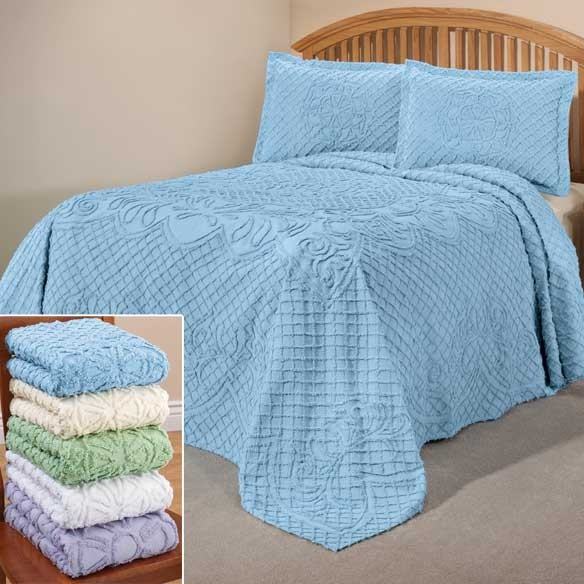The martha chenille bedding bedspread only ebay for Chenille bedspreads