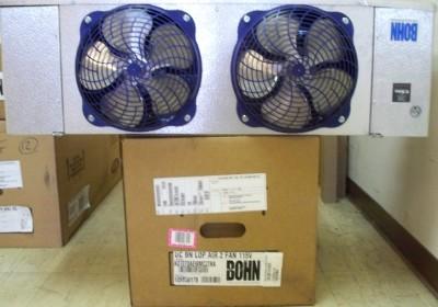 New 2 fan walk in cooler evaporator 7 000 btu ec motors ebay for Walk in freezer motor