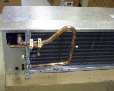 New 3 fan walk in cooler evaporator 15 600 btu 39 s psc for Walk in cooler motor
