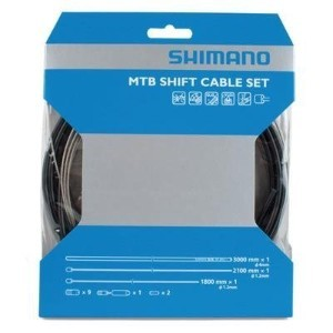Shimano-OT-SP41-MTB-Shift-Cable-Kit-Set-Gear-Deore-XTR-XT-SLX-BLACK