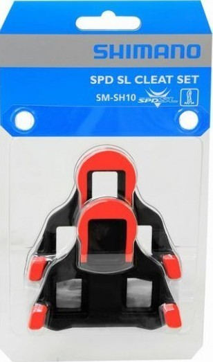 Shimano-SM-SH10-SPD-SL-Cleat-Set-RED-BLACK-Fixed-Mode-Cleat-inc-Bolts