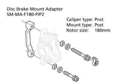 Shimano-Disc-Brake-Adapter-SM-MA-F180-PP-Front-180mm-Rotor-Post-Post-Mount