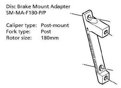 Shimano-Disc-Brake-Adapter-SM-MA-F180-P-P-Front-180mm-Rotor-Post-Post-Mount