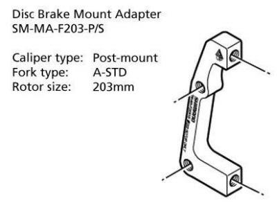 Shimano-Disc-Brake-Adapter-SM-MA-F203-PS-Front-203mm-8-Rotor-Post-A-STD-Mount