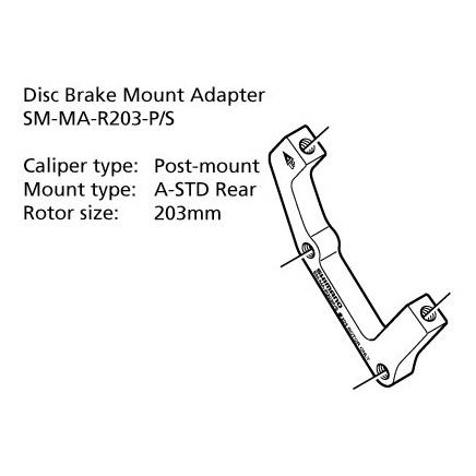 Shimano-Disc-Brake-Adapter-SM-MA-R203-PS-Rear-203mm-8-Rotor-Post-A-STD-Mount
