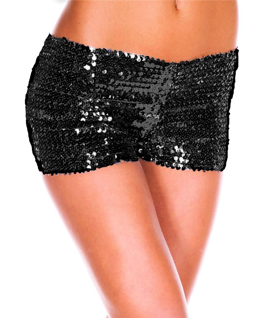 Black sequin shorts outfit- I'm not a sequins lover but this outfit is really cute! Textured shorts and sheer top. Find this Pin and more on Stressed, Depressed, But well dressed by Vanessa Soto ️. Same color textured shorts and a sheer blouse.