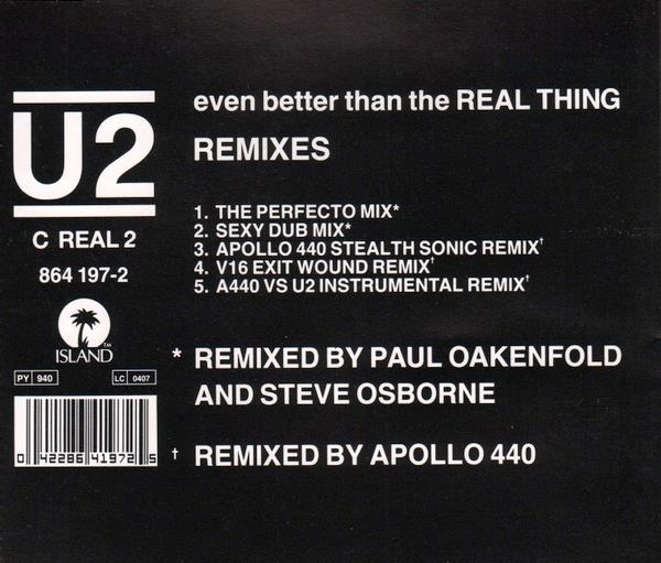 U2 - Even Better Than The Real Thing Record