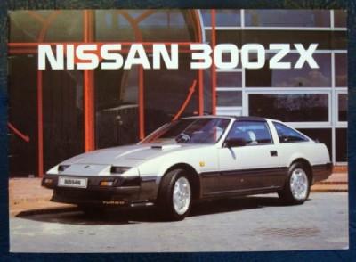 Nissan 300zx Sports Car Sales Brochure 1986 Ebay