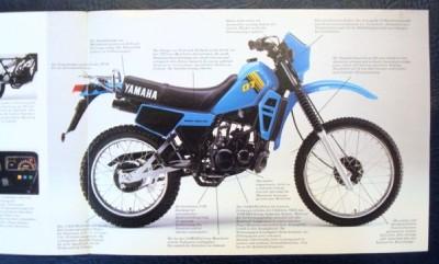 yamaha dt 80 lc sales brochure c 1983 german text ebay. Black Bedroom Furniture Sets. Home Design Ideas
